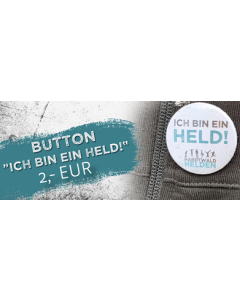 Button Ich bin ein Held!