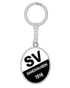 Schlüsselanhänger Metall-Logo
