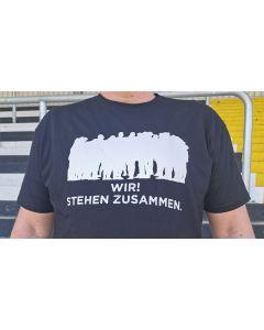 T-Shirt Wir! Stehen zusammen.